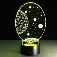 Die neue exotische produkte großhandel LED dekoration lampe nachtlicht 3D Lampen beleuchtung himmel romantische geschenke