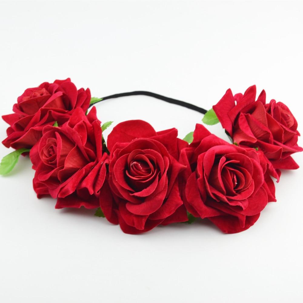 Rose flower headband flower crown for bridesmaid garland floral model shows izmirmasajfo