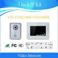 Free Shipping DAHUA Video Intercom Alarm integration 7 Inch IP Kit Support Mobile Phone Without Logo VTK-VTO6210BW-VTH1560BW