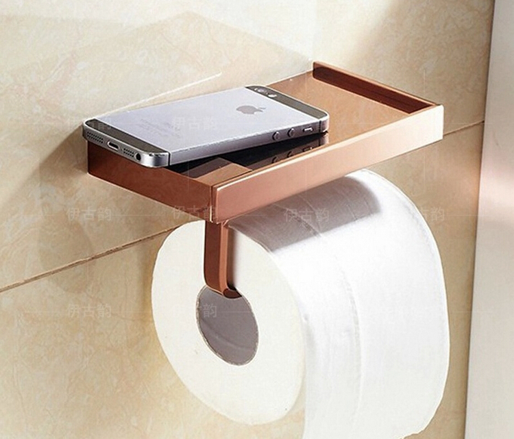купить  New arrival Toilet Paper Holder,Roll Holder,Tissue Holder,Solid Brass rose gold Finished-Bathroom Accessories Products  недорого