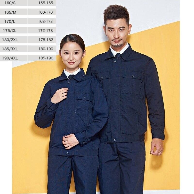 10 Sets  The Worker Clothing Suit Mens Canvas Blue Factory Labor Service Construction Site Wear Work Clothes Coat 5 Color
