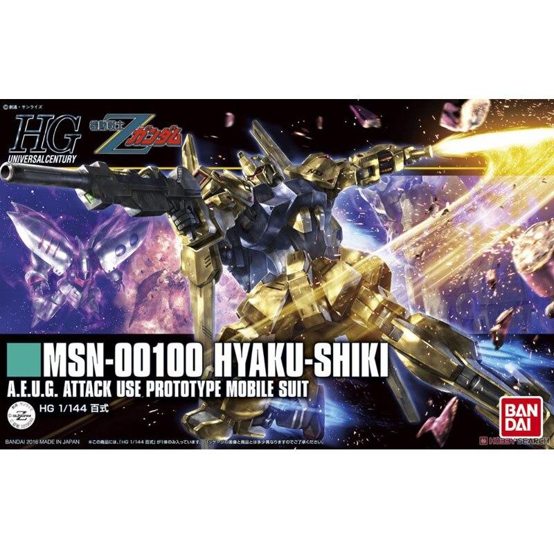 1PCS bandai HGUC 200 1/144 Hyaku-Shiki Gundam Mobile Suit Assembly Model Kits Anime action figure lbx toys bandai bandai gundam model sd q version bb 309 sangokuden wu yong bian xiahou yuan battle