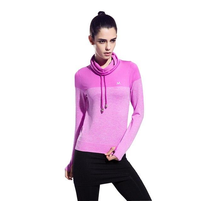 Femmes Gym Fitness Exercice Yoga Jogging Sport Chemises À Manches Longues  Tops de Course Run Sport Vêtements Pull cd26098a22c