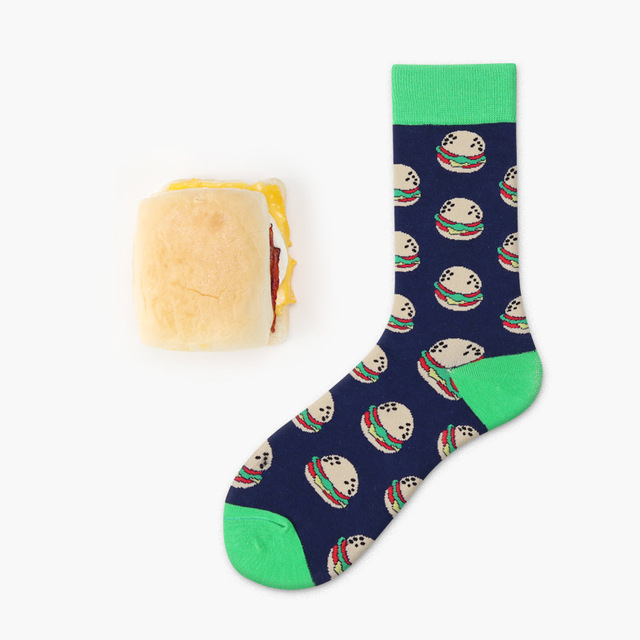 Food Printed Cotton Socks