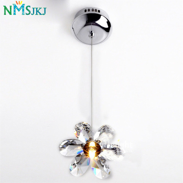 Us 31 2 20 Off Diy Mini Modern Flower Crystal Pendant Lights Hanging Lamp Lighting Fixture Droplights For Dining Bedroom Free Shipping In