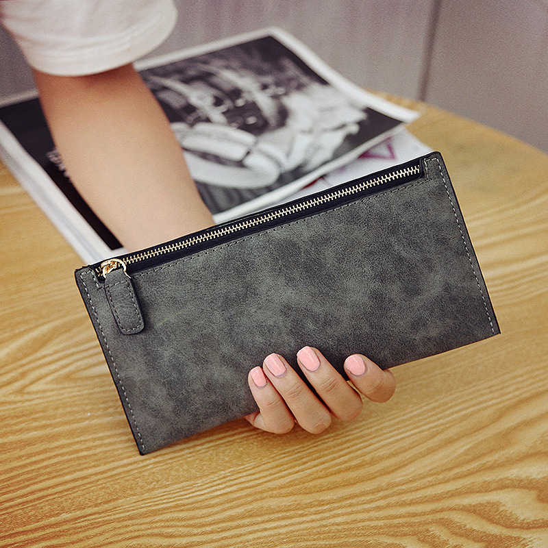 AUTEUIL PARIS Bolsa das Senhoras das Mulheres Sacos de Estilo Simples Bolsa Da Moeda Carteira Longa Dinheiro Titular do Cartão de Carteiras de Couro Fino Feminino sólida