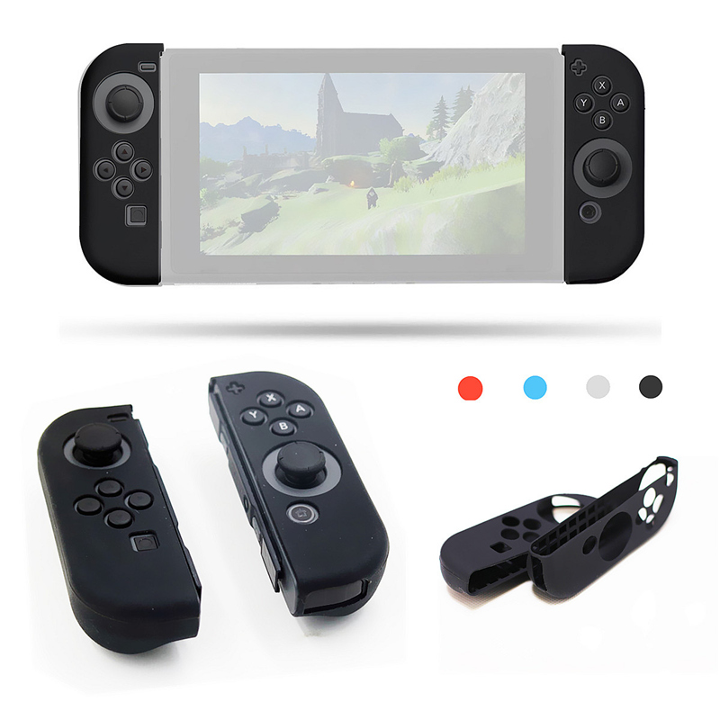 New 1Pair Multi-Color Impact Resistant Silicon Case Protective Rubber Skin Cover For Nintend Switch Joy-Con Controller Gamepad
