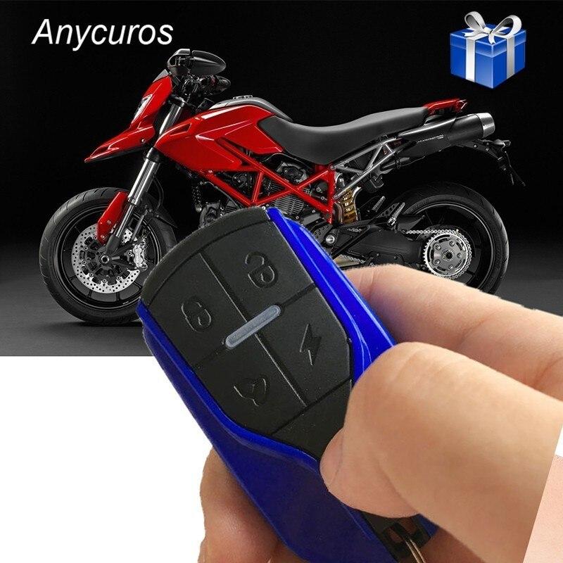 Universal Motorcycle Security Alarm System Scooter Anti-theft Bike Alarm System Remote Control Engine Start+Alarme Moto Speaker