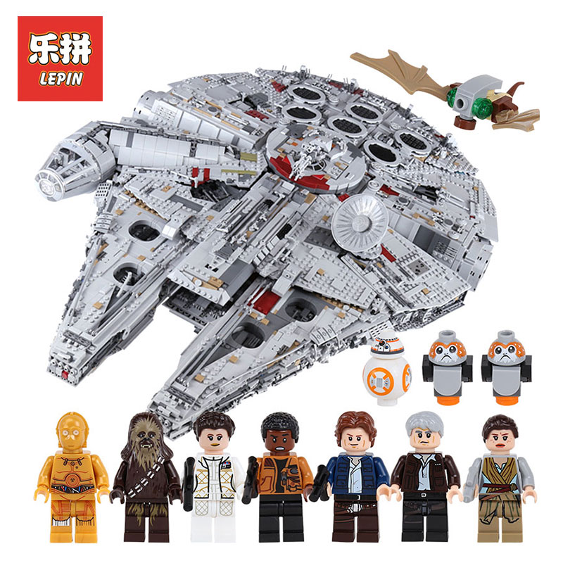 lepin 05132 star wars star destroyer ucs millennium falcon compatible with LegoINGly 75192 starwars bricks model building blocks
