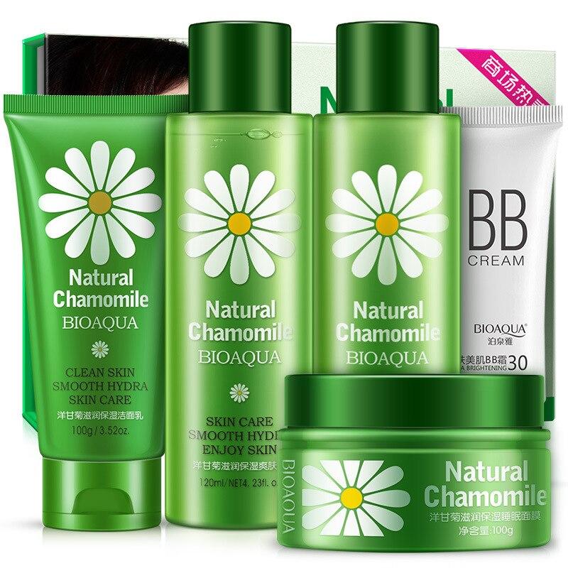 BIOAQUA Moisturizing Skin Care Suit Cleanser Cream Facial Care Cosmetics Smooth And Soft Skin Whitening Moisturizing Oil control