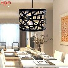 Творческий черный гнездо лампы современный минималистский ресторан столовая Люстры освещения бар лампы личности бесплатная доставка