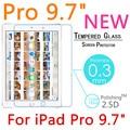 """NUEVO Pro 9 H 2.5D 0.3mm Templado de Vidrio Templado de Cine Para el ipad de Apple Pro 9.7 """"A Prueba de explosiones Protector de Pantalla LCD Protector de la Cubierta"""