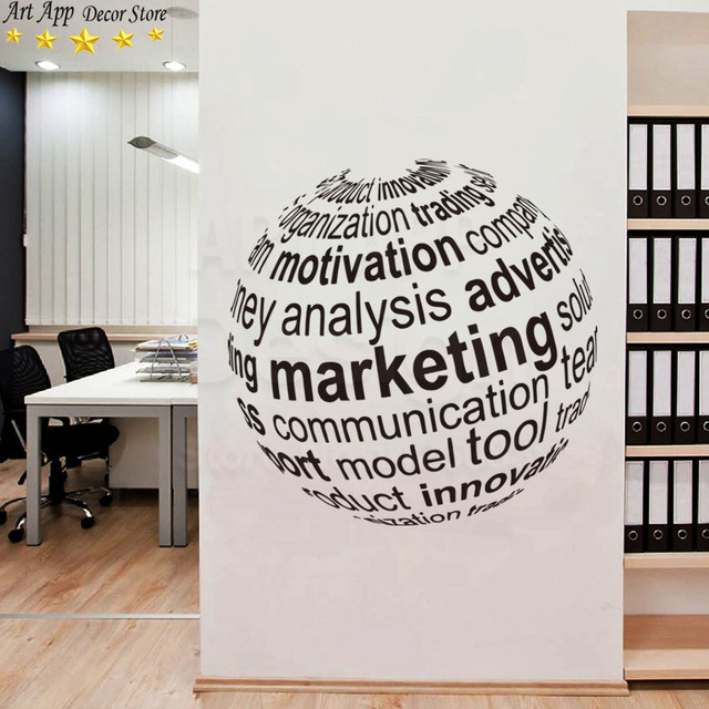Good Quality New Design Marketing Earth Wall Sticker Removable Art Cheap  Home Decoration Vinyl English Office