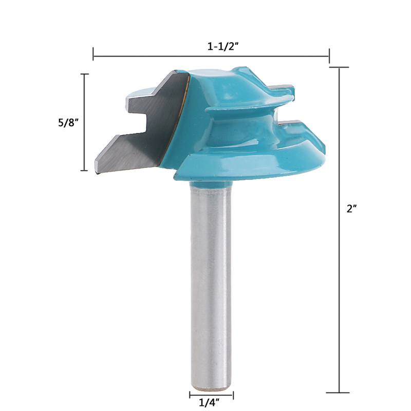 small lock miter router bit 45 degree 1 4 shank 1 1 2 width tenon cutter in milling cutter. Black Bedroom Furniture Sets. Home Design Ideas