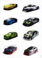 Ewellsvald 1/10 rc peças de carro 1/10 rc corrida on-road deriva carro pintado pvc corpo escudo múltiplas opções 94122