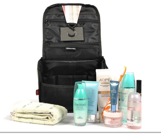 Free Shipping Men Lady Waterproof Nylon Wash Kit Toiletry Bag W Mirror Folding Hanging Cosmetic