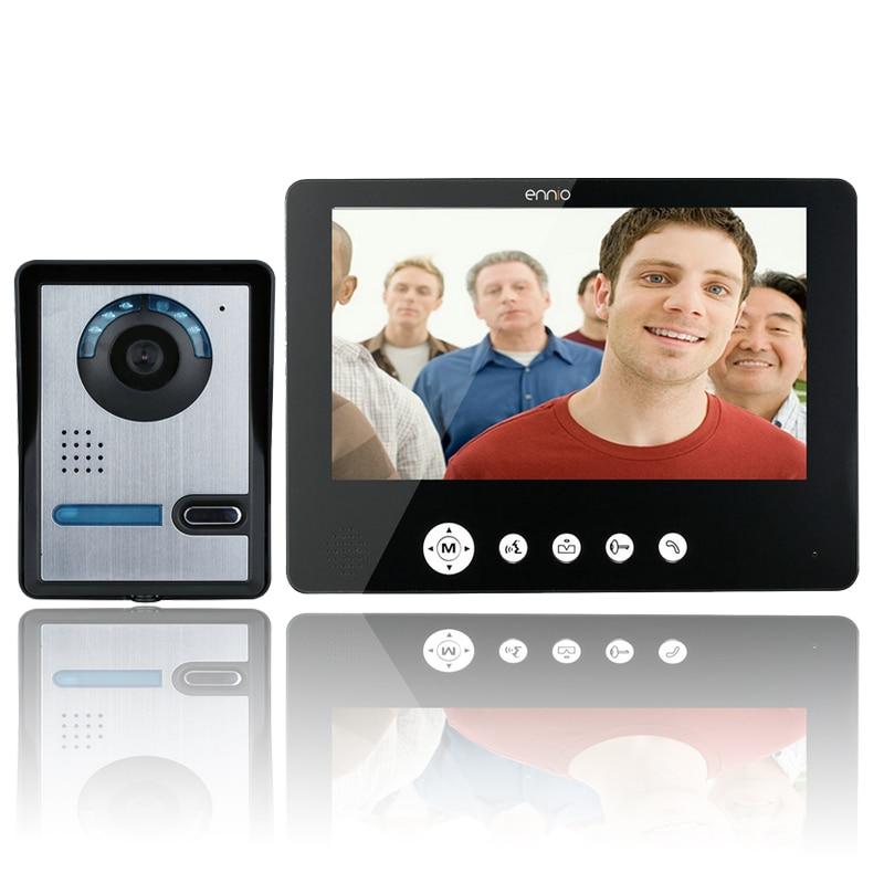 9 Inch Video Door Phone Doorbell Intercom Kit 1-camera 1-monitor Night Vision