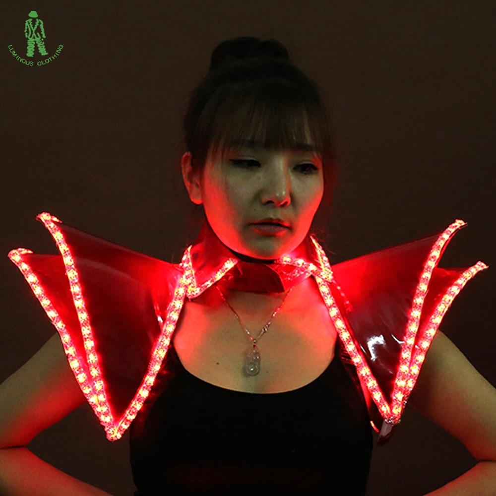 Brezplačna dostava Bela črna rdeča LED osvetlitev telovnik za - Prazniki in zabave