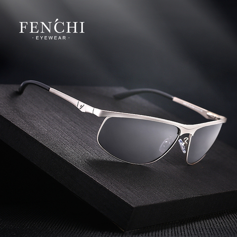 FENCHI Polarized Sunglasses Men Brand Designer New Fashion Metal Glasses Driving UV400 Sunglasses Eyewear Goggles Pakistan
