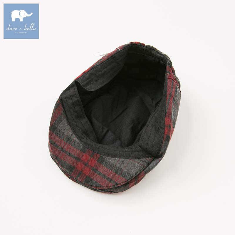 Dave bella หมวกเด็กฤดูใบไม้ผลิฤดูใบไม้ร่วงสไตล์อังกฤษหมวกเด็กหมวกลายสก๊อต