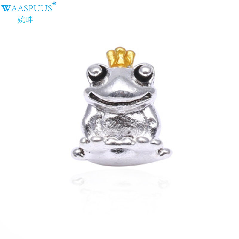 Jewelry Findings & Components Purposeful Best-selling Waaspuus Fashion Jewelry Alloy Hand Made Silver Plated Pendant Frog Prince Casual Jewelry Making Beads & Jewelry Making