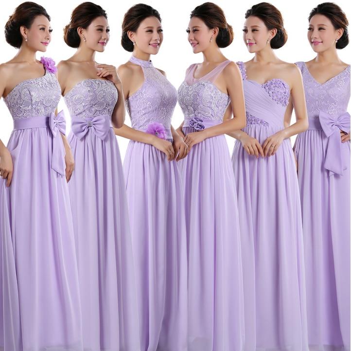 Encantador Larga De Encaje Vestidos De Damas De Honor Patrón ...