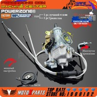 PowerZone PZ30 30mm Carburetor Accelerating Pump Racing 200cc 250cc For Keihin ABM IRBIS TTR 250 With Dual Throttle Cable