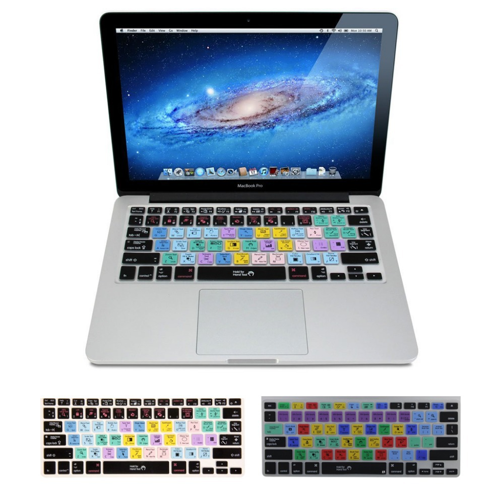 US $7 99 |Adobe Photoshop Illustrator Keyboard Shortcut Design Functional  Silicone Cover US For Macbook Pro Air 13 15 17 Protector Sticker-in  Keyboard