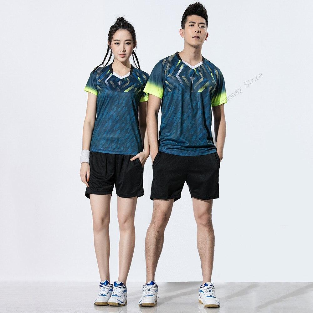 Roupas de Tênis Adsmoney Mulheres Badminton Jersey Terno Homens Camisa Uniformes Respirável Camisetas & Shorts