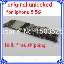 for iphone 5 5g 16GB original unlock motherboard full function Circuits board 100% work GSM version main board with chips