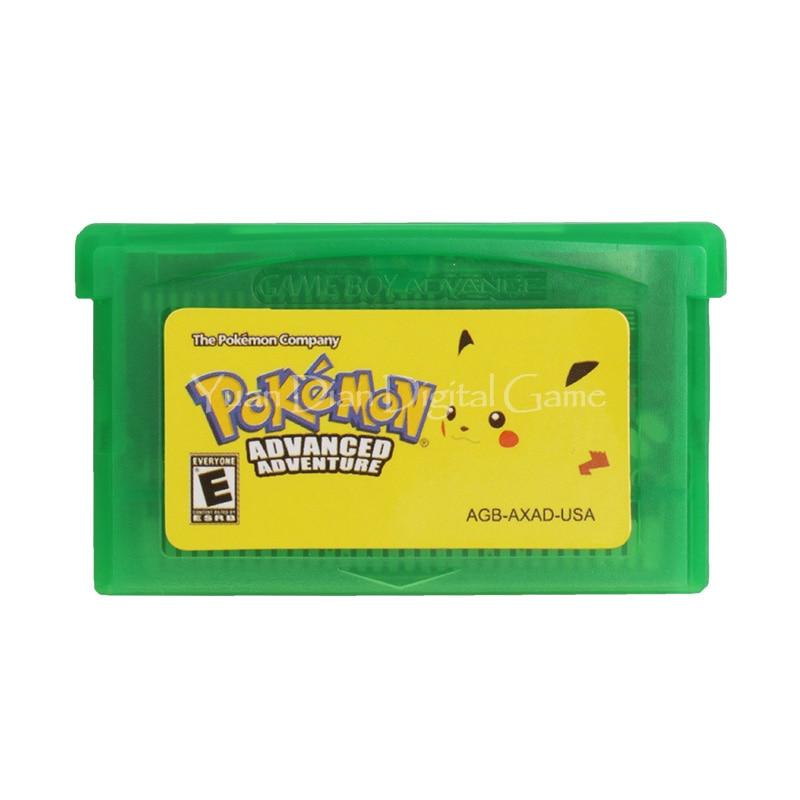 Nintendo GBA Video Game Cartridge Console Card Pokemon Series Advanced Adventure English Language Version