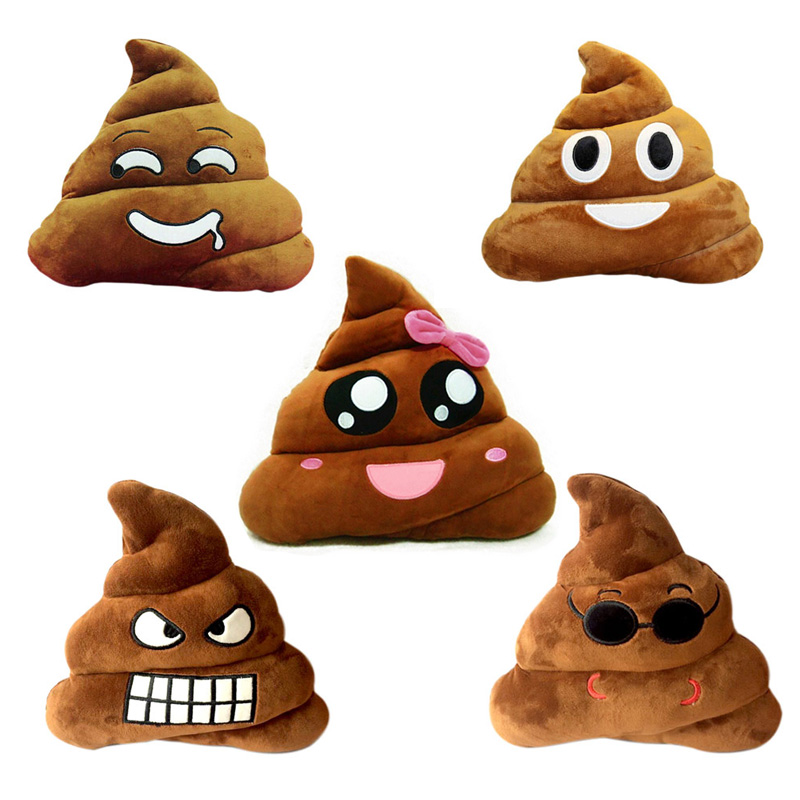 emoji smiley poop face pillow cute toy stuffed doll shaped plush cushion aliexpress wholesale toys china baby