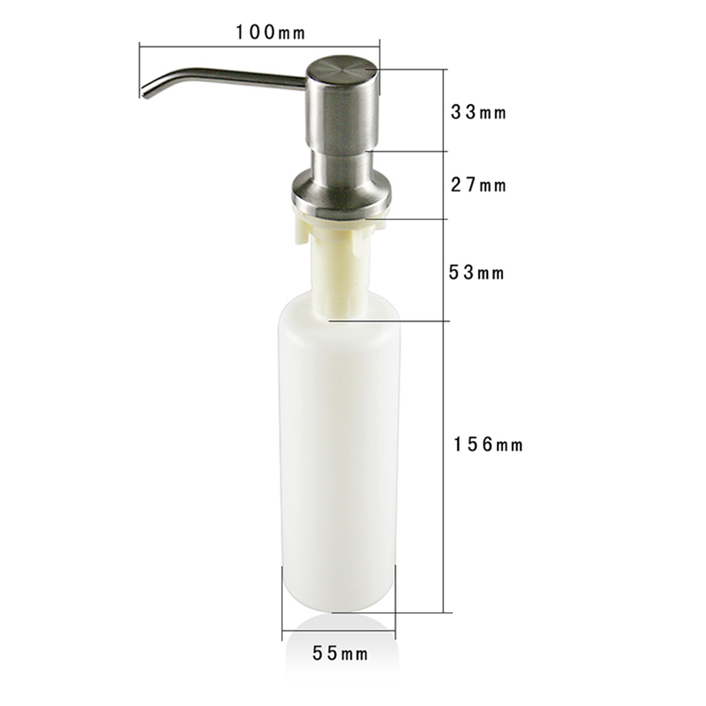 Talea Sink Kitchen Soap Dispenser Bathroom Detergent Dispenser for Liquid Soap Lotion Stainless Steel Head QS130C003