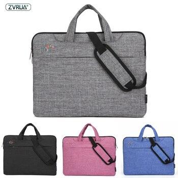 Сумка для ноутбука 13, 14, 15 дюймов, водонепроницаемая сумка для ноутбука Macbook Air Pro 13,3, 15,4, 15,6 дюймов, сумка через плечо для компьютера, портфель, ...