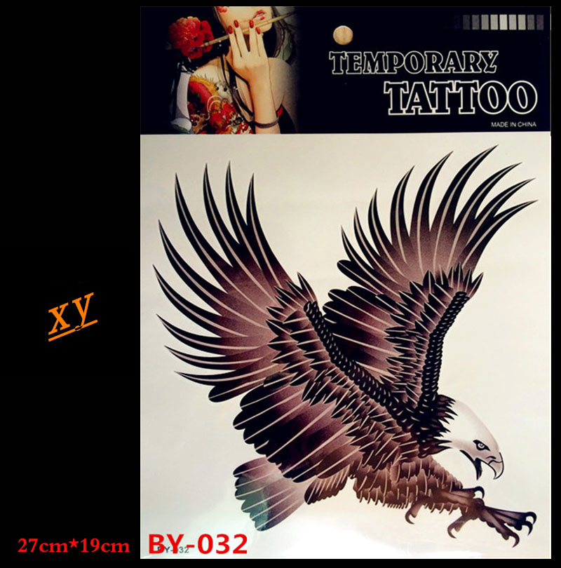 Sexy eagle warrior body art tattoo arm temporary tattoos waterproof fake tattoo set of male chest decals BY-032