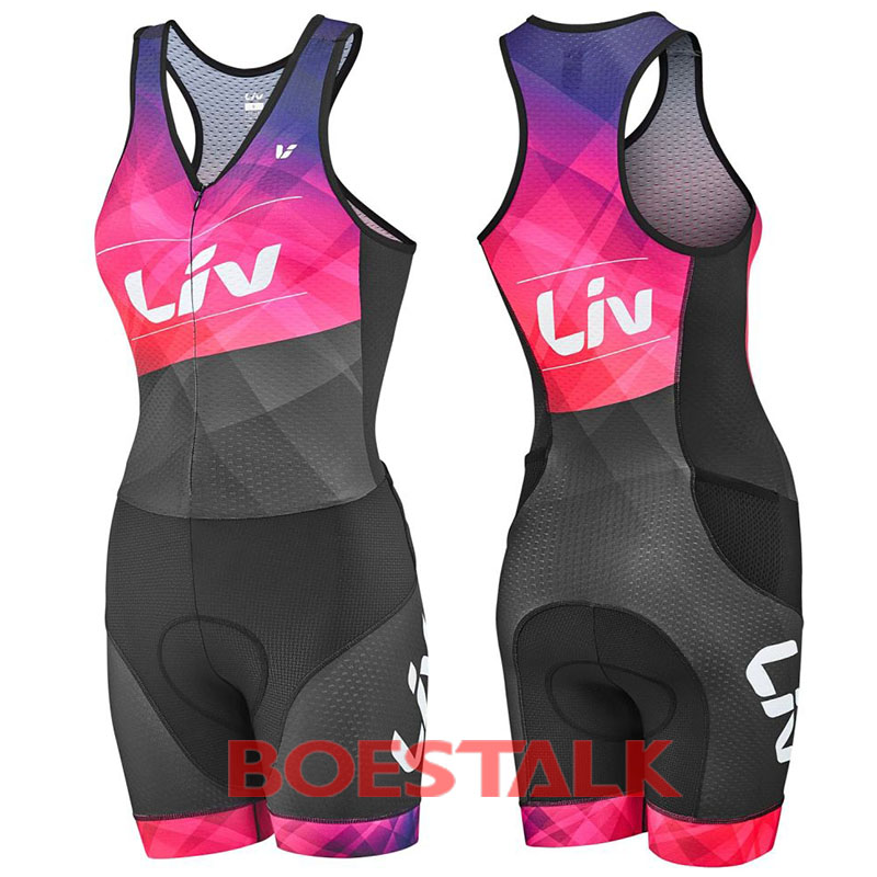 LIV femminile costumi da bagno delle donne della squadra di 2018 senza maniche aero vestito di pelle su misura usura di riciclaggio ciclismo bicicleta itallian triatlon run gear