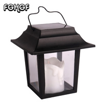 1Pcs Solar Power LED Lantern Lights Outdoor Flickering Flameless Home Decoration For Beach Umbrella Garden Rechargeable Li On