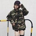 Nuevo 2017 de moda de estilo militar de camuflaje cazadora mujeres versión libre windcheater mujeres jaqueta feminina tamaño s-2xl JK2