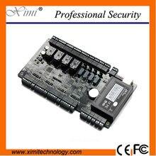 Tablero de Tarjeta de control de acceso C3-400 de control de software libre 4 puertas diferentes bloqueo de tarjeta de controlador de acceso TCP/IP wiegand reader