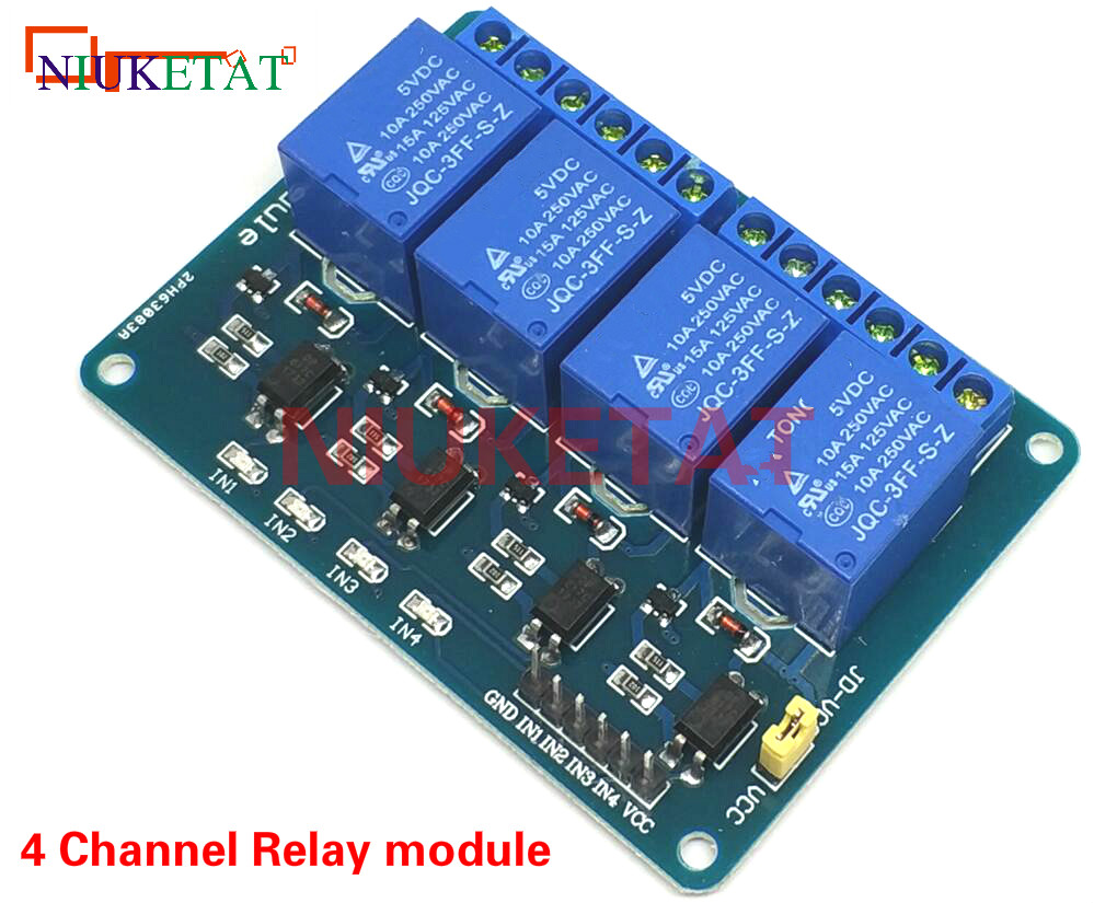 цена на 4 Channel Relay relay expansion board 4 channel 5V 4-Channel Relay 5V 4-road relay module Free shipping