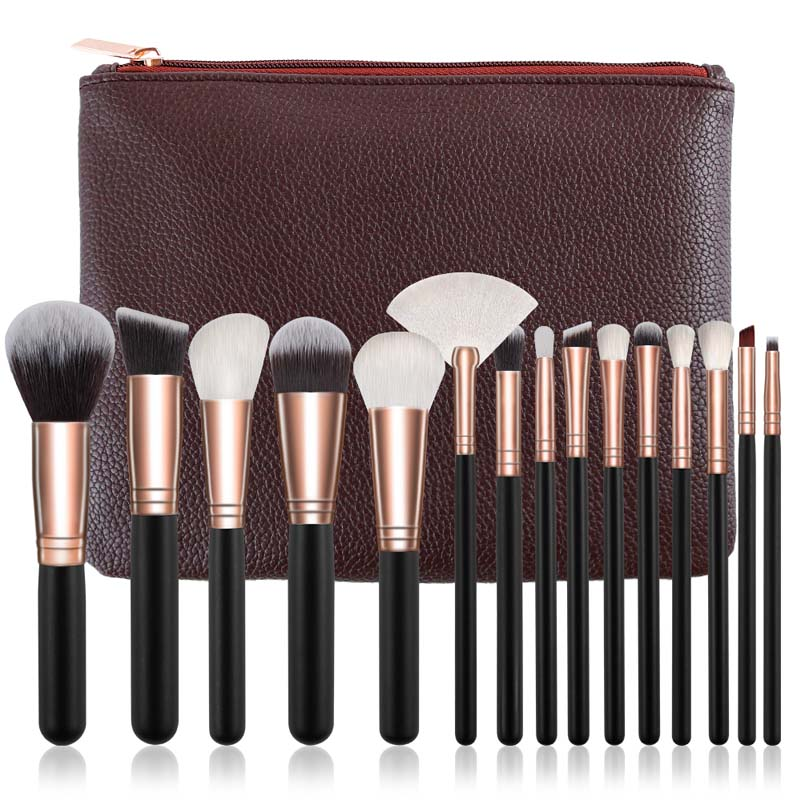 10/15pcs Makeup Brushes Set Pincel Maquiagem Powder Eye Kabuki Brush Complete Kit Cosmetics Beauty Tools with Leather Case 1