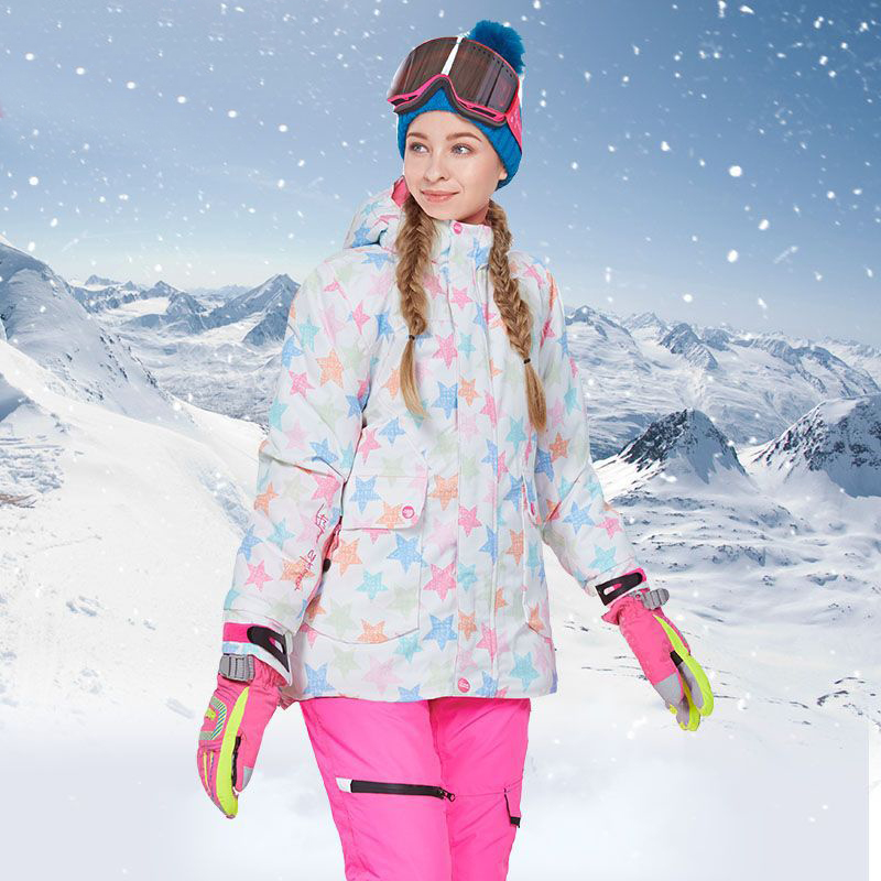 2019Winter Ski Suit Women's Outdoor Sports Snowboard Sets Waterproof Skiing Jacket + Snow Pants Warm And Windproof
