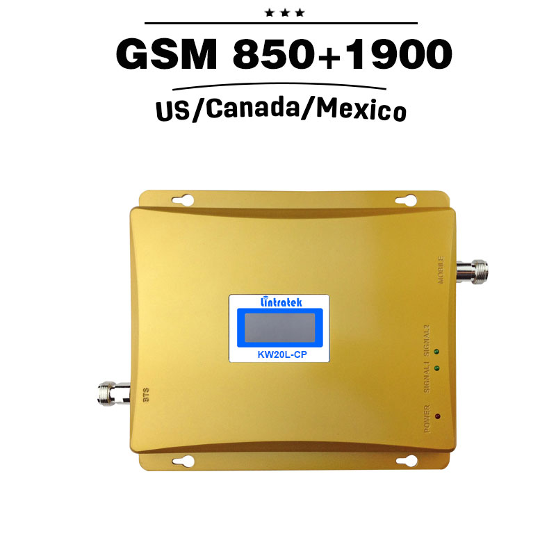 2G 3G GSM 850 PCS 1900 Dual Band Repeater 65dB 3G UMTS 850mhz 4G - Ανταλλακτικά και αξεσουάρ κινητών τηλεφώνων - Φωτογραφία 2