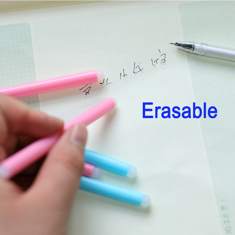 0 5mm Erasable Suit Gel Pen Blue Black Erasable Refills and Pens Set For School Office Writing Tools Student Stationery Supplies in Gel Pens from Office School Supplies
