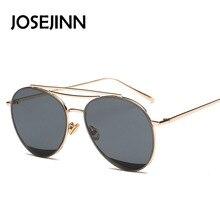 New Trendy alloy frame oval lens black sunglasses women men sunglasses oval fashion design sun glasses 6659