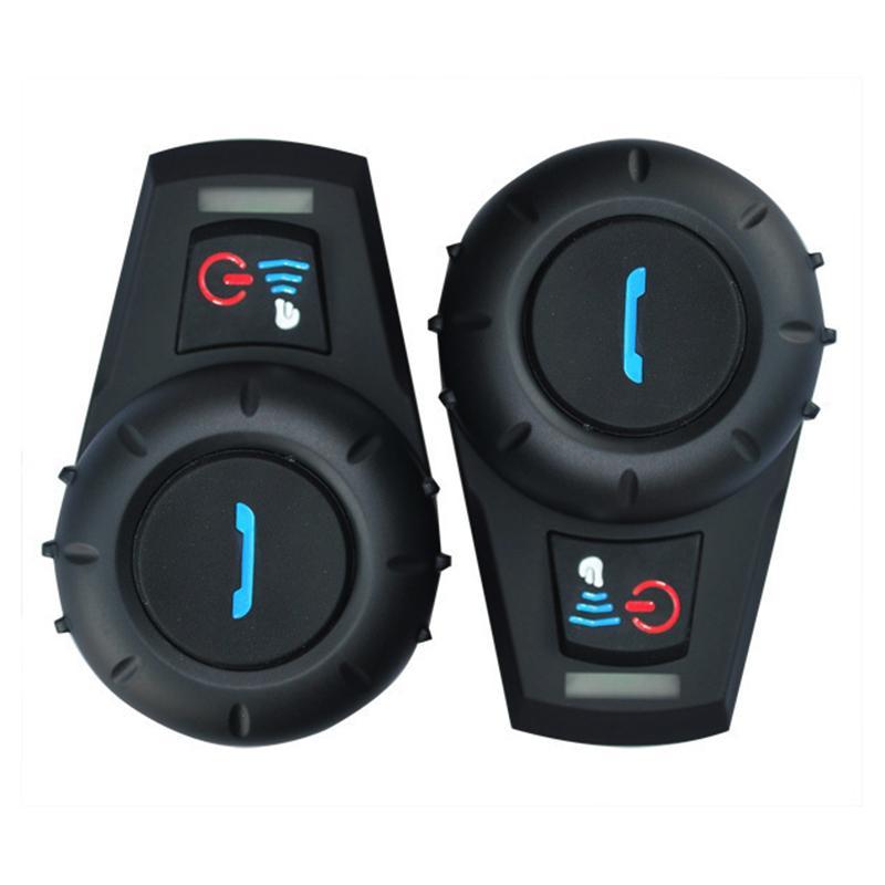 New  500M BT Bluetooth FM Radio Motorcycle Helmet Intercom Interphone Headset intercomunicador for Phone/GPS/MP3 new 800m fm function bluetooth motorcycle snowmobile helmet intercom headset for phone gps mp3 intercomunicador motocicleta
