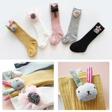 цена 2019 Baby Girls Long Sock Toddler knee high socks for Girl candy color leg warmer cotton warm boot sock fashion princess socks в интернет-магазинах