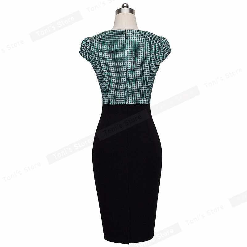 Хорошее-forever Новое Стильное Элегантное повседневное платье с принтом, с рюшами, с рукавами-крылышками, с круглым вырезом, бодикон, до колена, женское офисное платье-карандаш B316