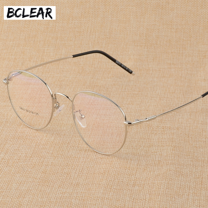 BCLEAR New Memory Titanium Alloy Retro Eyelasses Frame Personality Unisex Myopia Frame Literary Flat Spectacle Glasses Men Women