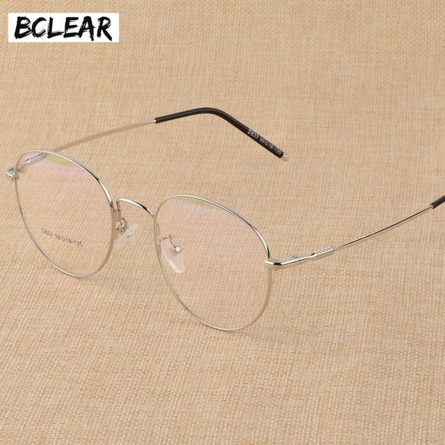 BCLEAR חדש זיכרון טיטניום סגסוגת רטרו Eyelasses מסגרת אישיות יוניסקס קוצר ראיה מסגרת ספרותי שטוח מחזה משקפיים גברים נשים